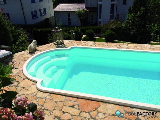 Basen ogrodowy kąpielowy gotowy z laminatu 6,3x3,25 CARBON Producent
