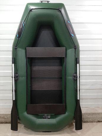 Двухместная гребная лодка надувная из пвх 250 см. Гарантия 5 лет.