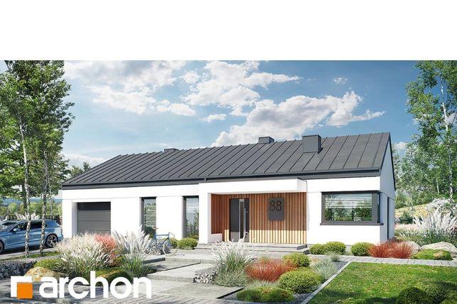 dom jednorodzinny parterowy z garażem w bryle 130 m2 Włocławek