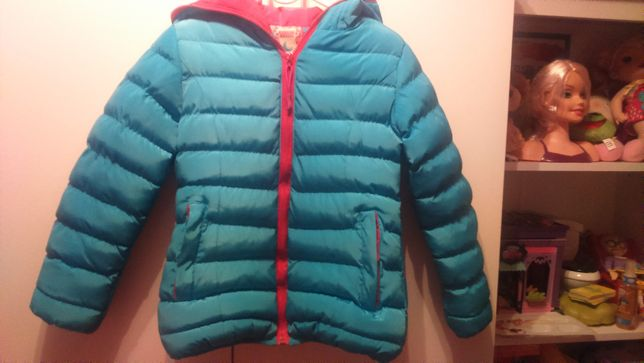 Ciepła kurtka na zime dla dziewczynki roz 110 - 116
