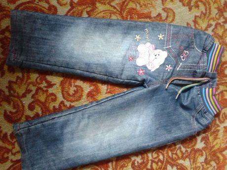 Теплые джинсы на меху до 2,5 лет