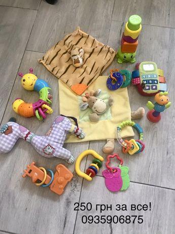 Пакет игрушек для самых маленьких, погремушка, грызунок