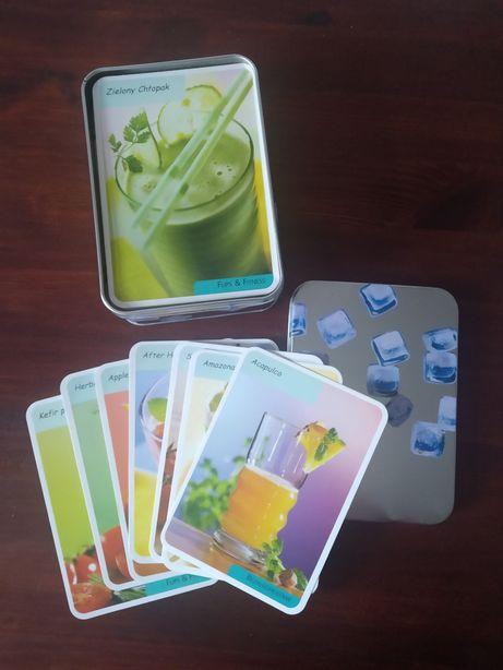 Karty z przepisami na drinki koktajle