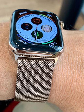 Apple Watch 4 / 44 mm stainless steel za 60% ceny( 21 msc gwarancji!)
