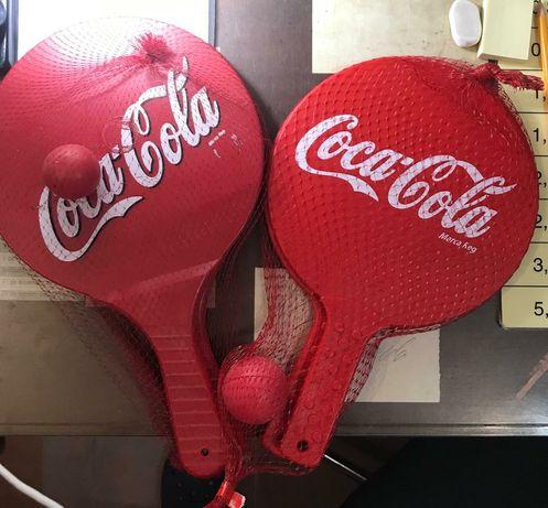 Raquetes de praia Coca-Cola NOVAS A ESTREAR