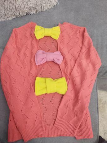 Sweterek ażurowy gołe plecy