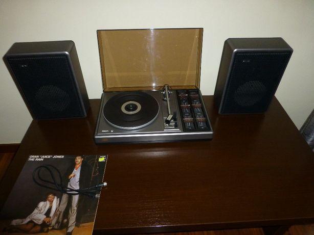 Gramofon Philips 461 z kolumnami