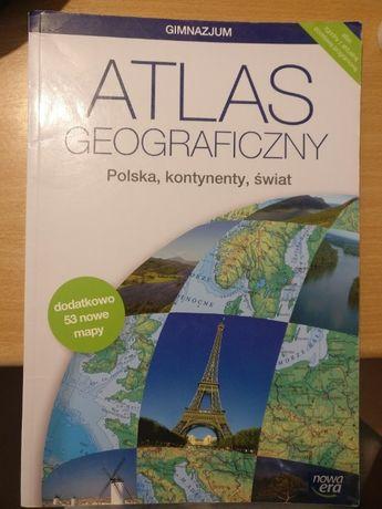 Atlas geograficzny. Polska, kontynenty, świat. Gimnazjum. Nowa wersja.