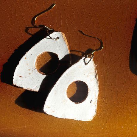 Kolczyki z gliny vintage handmade