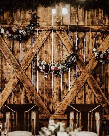 Dekoracja ślubu, sala, kościół bukiety ślubne boho i nie tylko