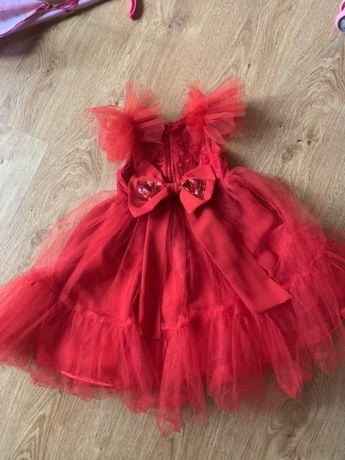 Платье нарядное, красное