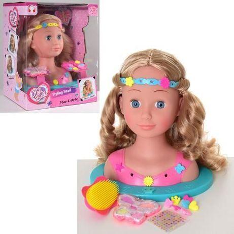 Кукла Манекен Голова для Причесок. Качественные Волосы. Аксесуары. 888