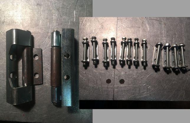 Zawias boczny do szaf metalowych obudów pokryw klap 14 szt