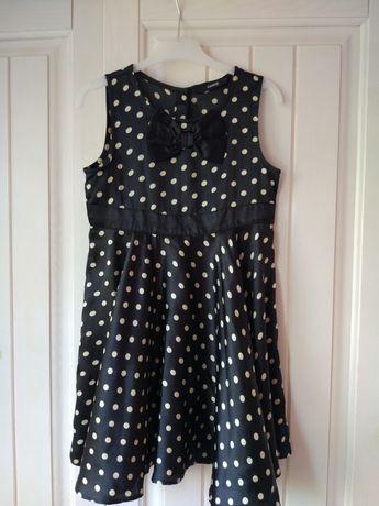 Sukienka w groszki dla dziewczynki 116-122