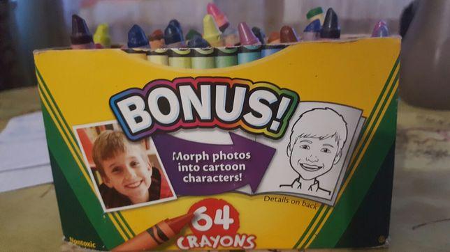 Восковые цветные карандаши CRAYOLA  64штуки+8 штук бонус