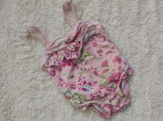 Strój kąpielowy jednoczęściowy kostium dziecięcy 3-6 m falbanki lato