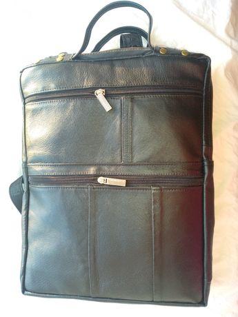 Рюкзак кожаный ручная работа оригинальный женский мужской городской