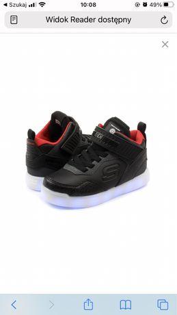 Buty chłopięce sportowe Skechers świecące