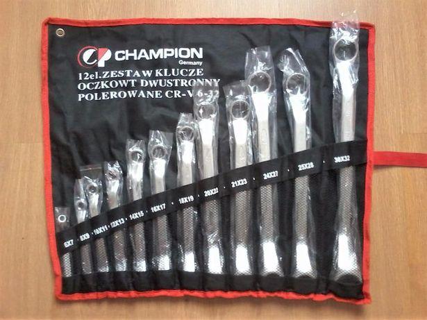 Nowy komplet kluczy oczkowych Champion Chrome Vanadium CR-V 6-32