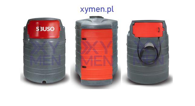 Zbiornik dwupłaszczowy na paliwo ropę olej napędowy 1500 L