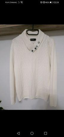 Sweterek smietankowy M