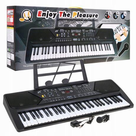 Keyboard - organy MQ-MQ-600UFB z zasilaczem i mikrofonem