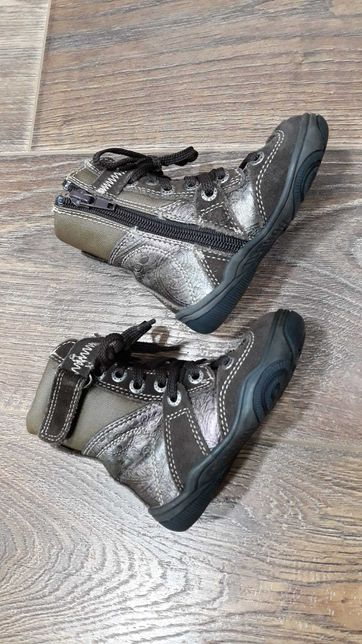 Детские демисезонные ботинки 20 размер, 13 см. Замш+кожа+кожзам