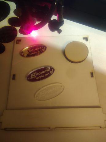 Corte e gravação laser