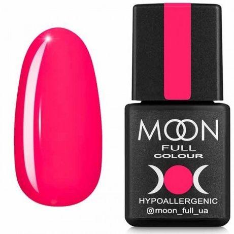 Гель-лак Moon Full Neon №709, 8мл. (розовый насыщенный)