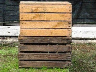 Skrzynki drewnianych po jabłkach, loft