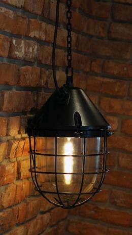 Lampa wisząca loft retro PRL industrial