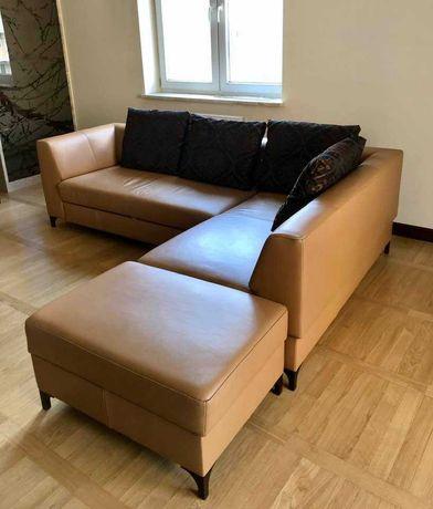 Narożnik Sofa Kanapa Fotel Komplet wypoczynkowy skórzany KLER