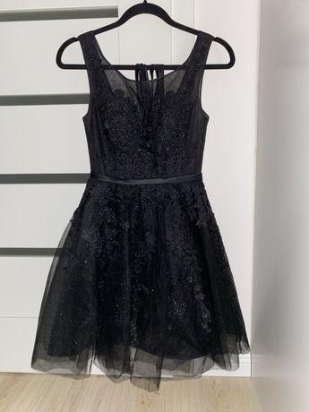 Sukienka elegancka balowa czarna