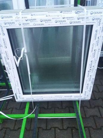 Okno pcv 79x97 kolor zewnątrz złoty dąb