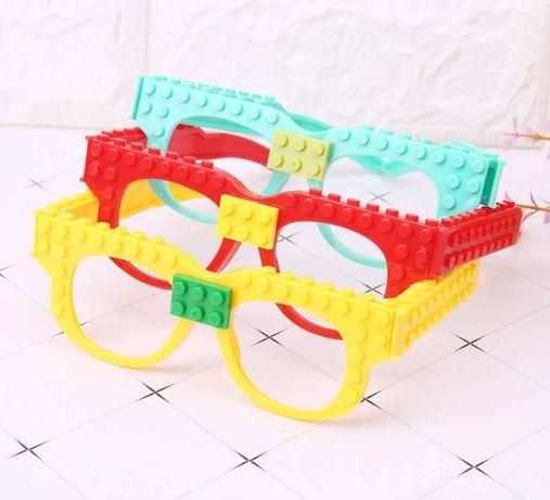 Nowe okulary dla fanów Lego z klockami trzy kolory