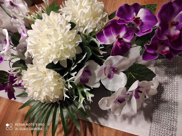 Kompozycja kwiatowa nagrobna Stroik Wiązanka na cmentarz