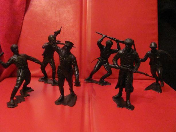 Фигурки Солдат Красной Армии Отряд 5 Солдат Политрук 14 см 1:12