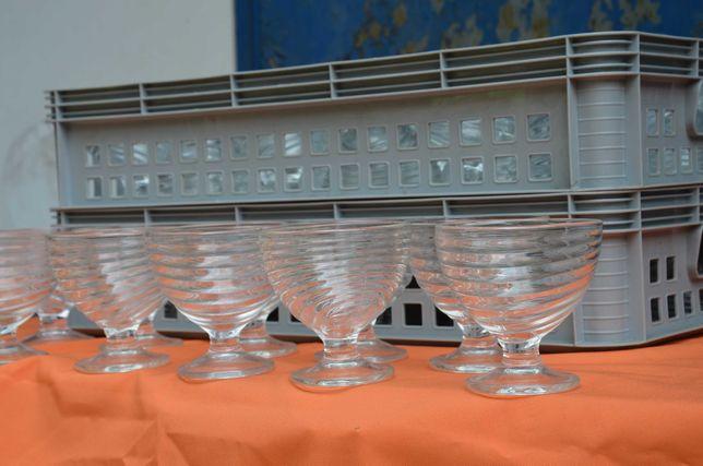 Pucharki do lodów, deserów, szklane 44 szt. oraz inne