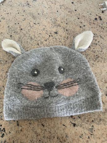Czapka Królik Bunny ogonek 4-5 Next