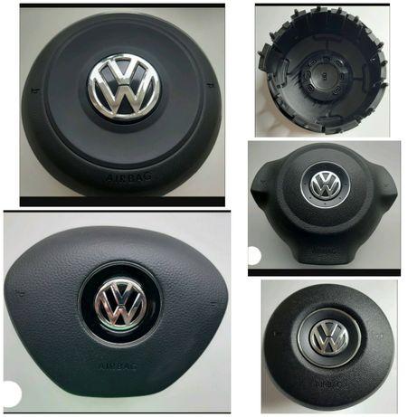 Кришка муляж обманка в руль подушка безпеки Beetle Golf 6 7 8 GTI