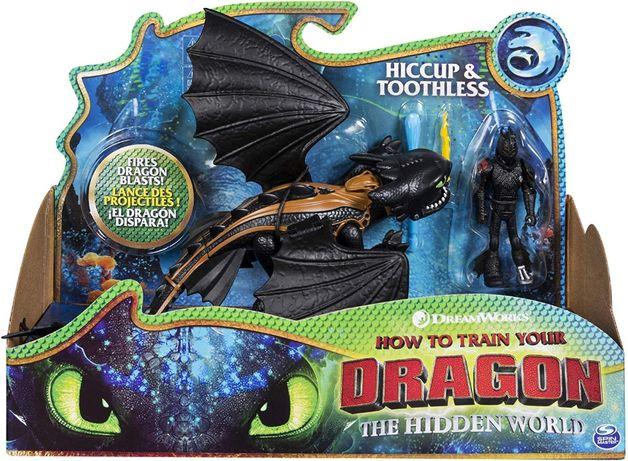 Беззубик Dreamworks с Иккингом Toothless & Hiccup Как приручить дракон