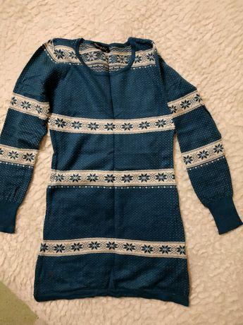 Вязаное платье - кофта