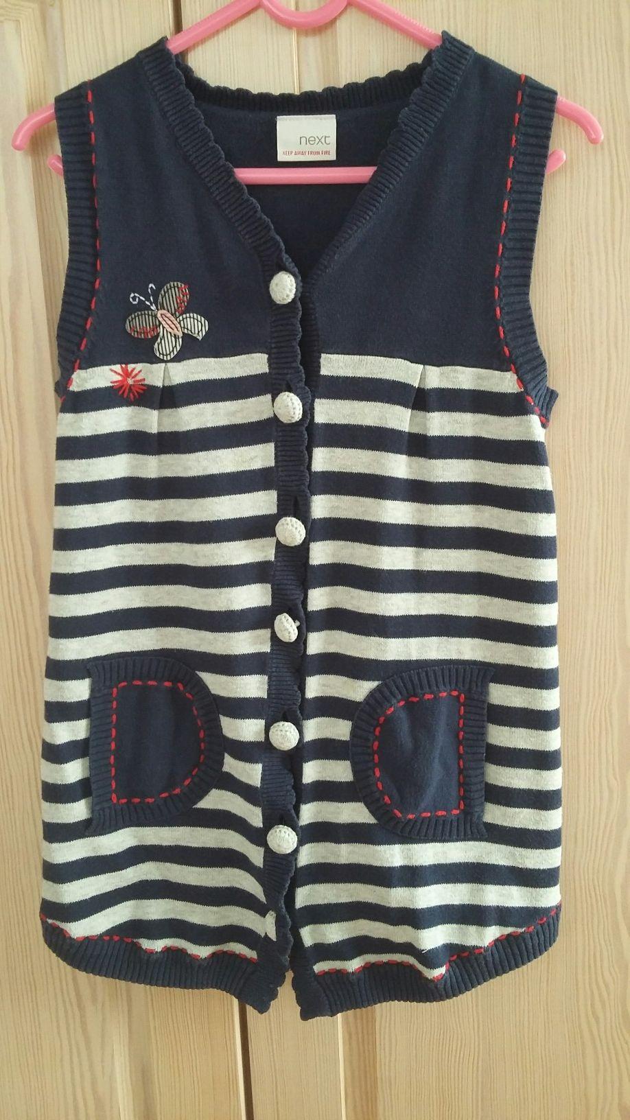Sukienka / długa kamizelka NEXT r. 104