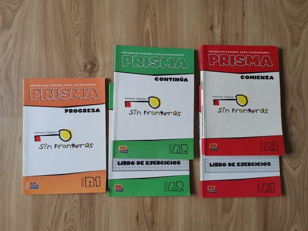 Prisma A1, A2, B1 książki +ćwiczenia