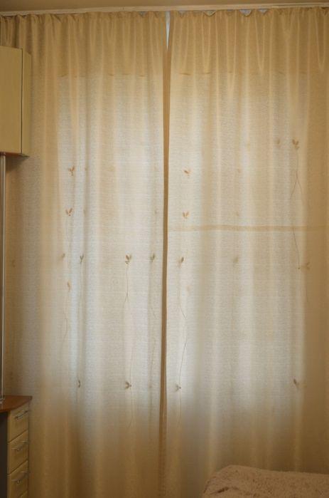 Шторы светло-бежевые, 3 штуки, размер 1,35 м х 2,9 м Северодонецк - изображение 1