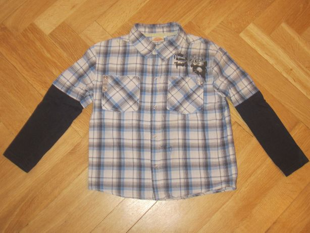 Bawełniana koszula z długim rękawem na 5 lat, 116 cm
