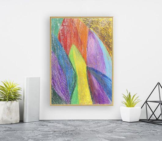 abstrakcja 21x30, kolorowy obraz a4, ładna abstrakcja ręcznie malowana