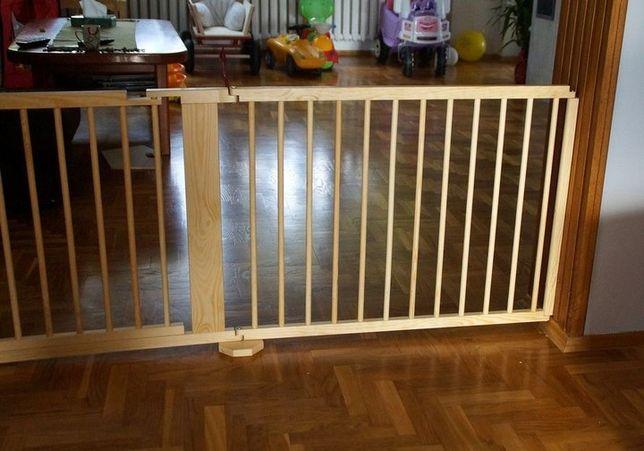 Barierka drewniana blokada bramka KOMINKA dla psa schody 182 cm nowa