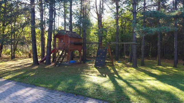 Domek drewniany dla dzieci ogrodowy plac zabaw