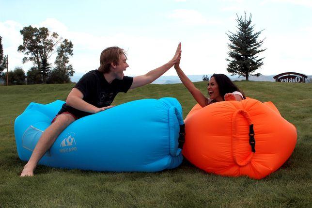 Nowy WEKAPO ogromny dmuchany materac leżak do domu ogrodu i nad wodę